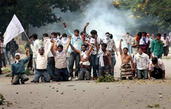 Violence mars Telangana March