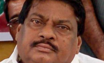 MP Sivaprasad satged dharna at Parliament