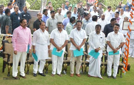 KCR allocates portfolios to new ministers
