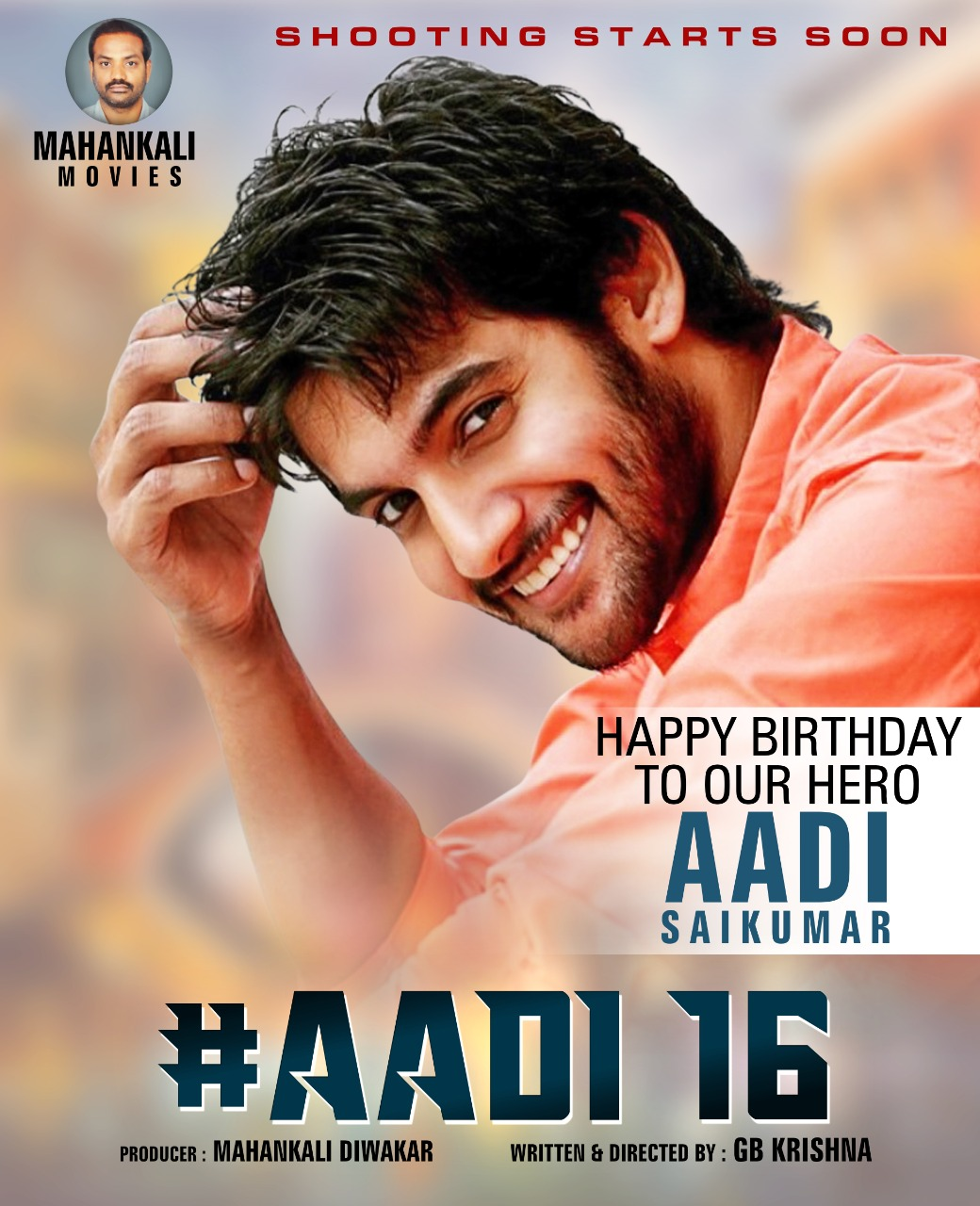 Aadi Saikumar new movie poster