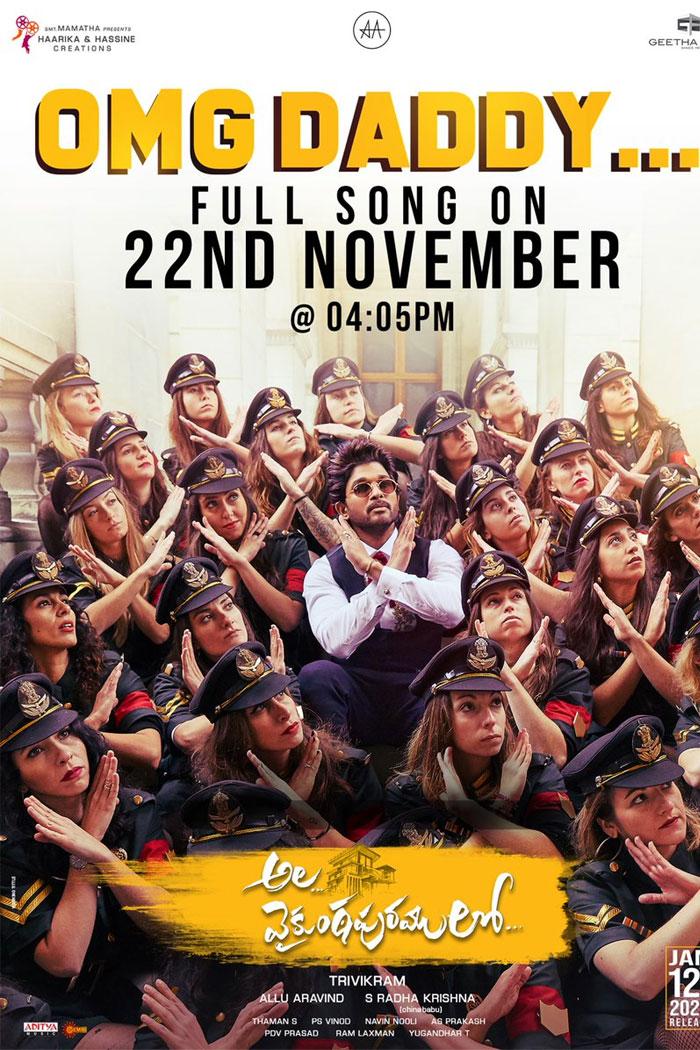 Ala Vaikunthapurramloo Third Single on November 22