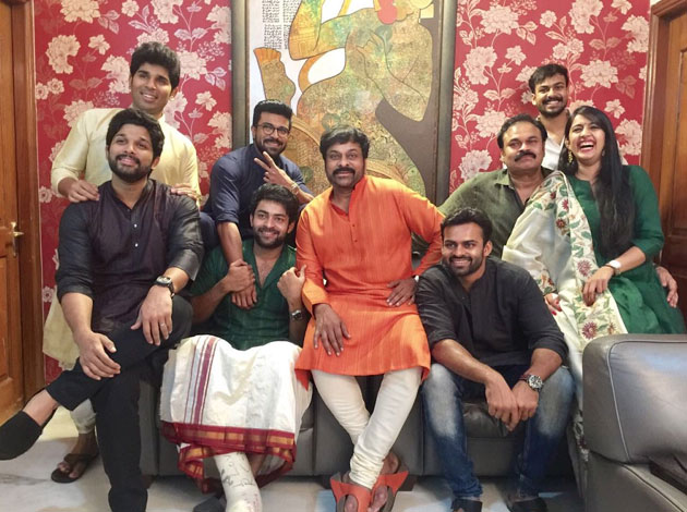 All Mega Heroes Joined for Diwali