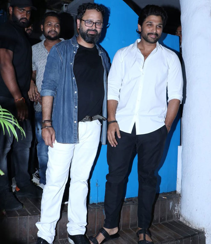Allu Arjun at Batla House success party