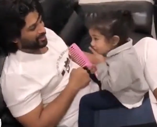 Allu Arjun Daughter Arhaa Fasak Dialogue