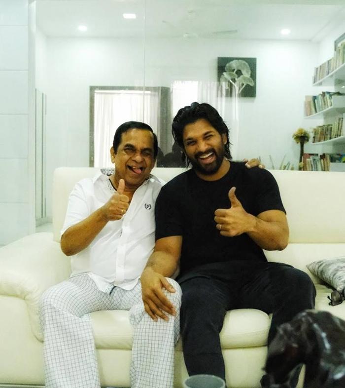 Allu Arjun With Brahmanandam