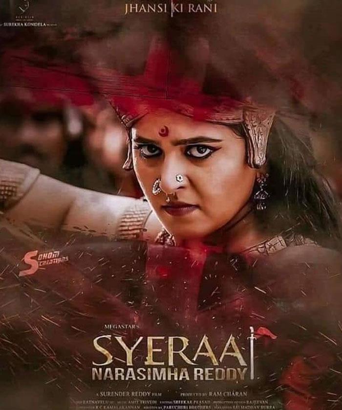 Anushka's Jhansi Lakshmi Bai Look in Sye Raa