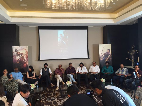 Baahubali's Team with Chine Media in Hyderabad