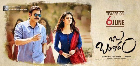 Babu Bangaram's Teaser Date