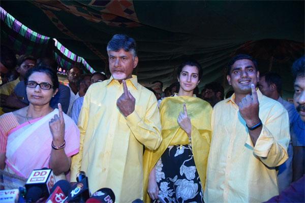 Chandra Babu Naidu Casts Vote