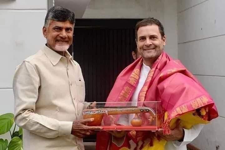 Chandrababu Naidu and Rahul Gandhi Veena Connection