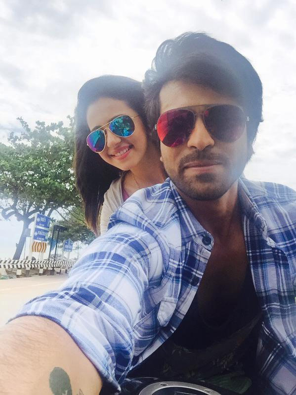 Charan-Rakul's Pic Shared by Producers