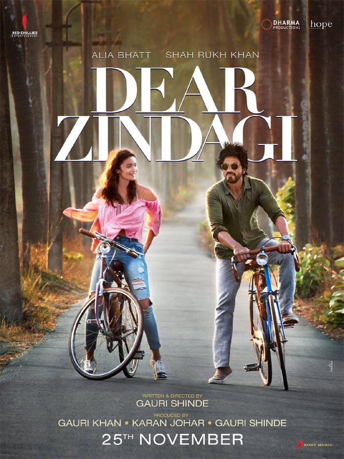 Dear Zindagi First Look Starring Shah Rukh Khan, Alia Bhatt