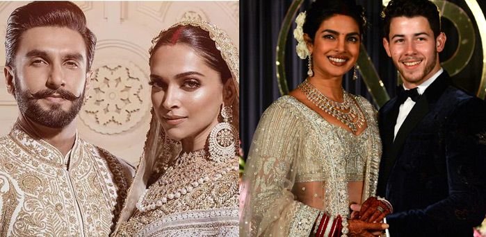 Deepika Ranveer Singh Marriage Vs Priyanka Chopra Nick Jonas Wedding