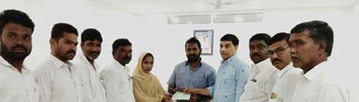 Donation to Prabhas Fan's Family