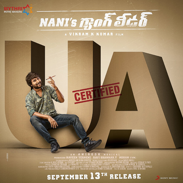 Gang Leader Gets U/A Censor Certificate