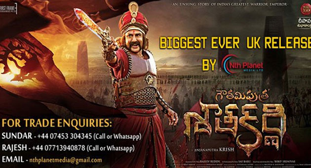 Gauthamiputra Satakarni Bigest ever Release in UK