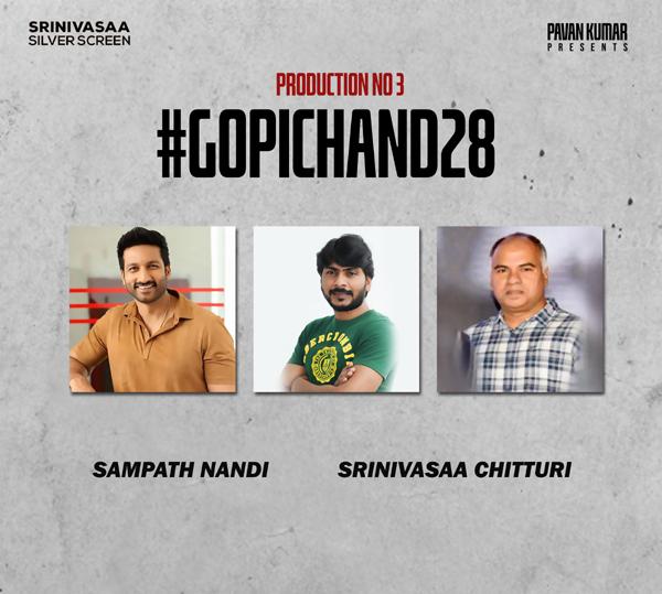 Gopichand, Sampath Nandi New Film