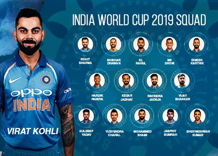 Indian Squad for World Cup