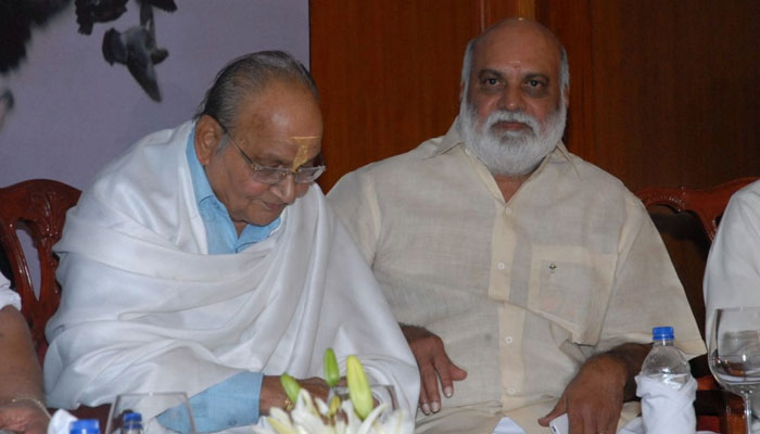 K Viswanadh with K Raghavendra Rao