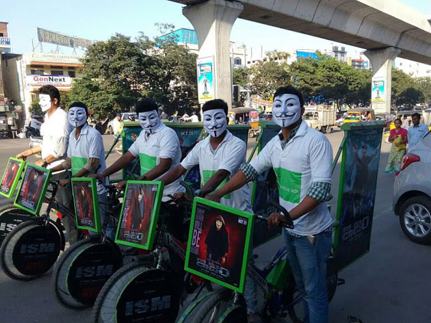 Kalyan Ram's Ism Promotion with Masks