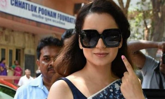 Kangana's explosions on current political scenario