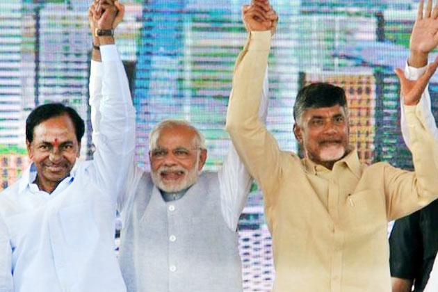 KCR Chandra Babu Naidu Modi