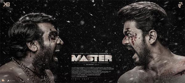 Master Poster Vijay Vs Vijay Sethupathy