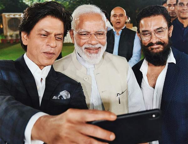 Narendra Modi With Bollywood Stars