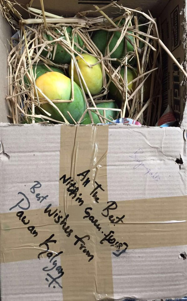 Nithiin Received Pawan Kalyan's Mangoes