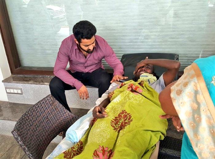 NTR Meets His Fan Cancer Patient Nagarjuna