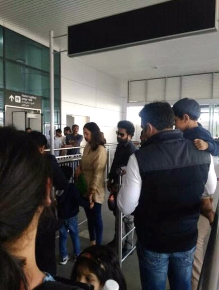 NTR Spotted With Family At Airport