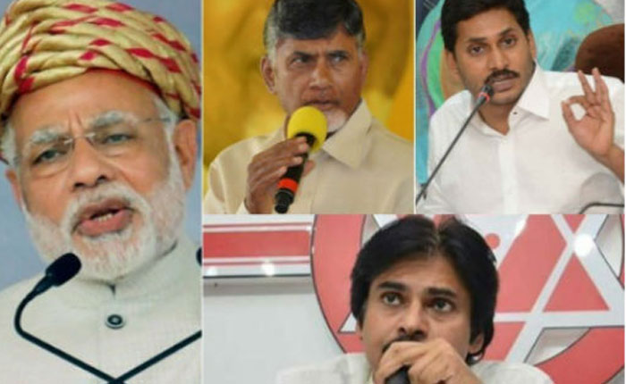 Pawan, CBN, BJP and Jagan Love Stories