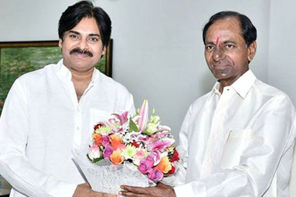 Pawan Kalyan and KCR