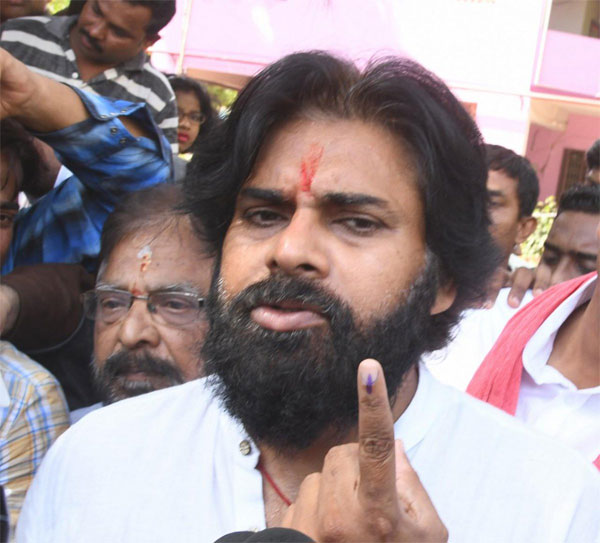 Pawan Kalyan Cast Vote