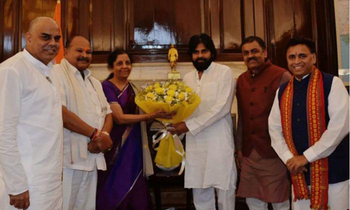 Pawan Kalyan Meets Nirmala Seetharaman
