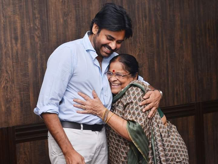 Pawan Kalyan Receives Cheque from His Mother for Titli Victims