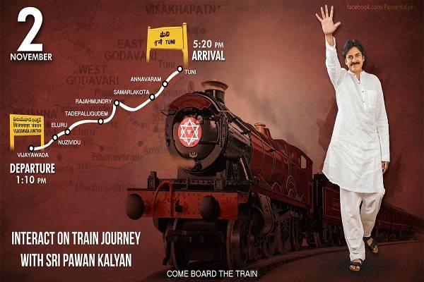 Pawan Kalyan train tour schedule