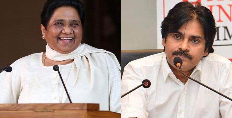 Pawan with Mayawati