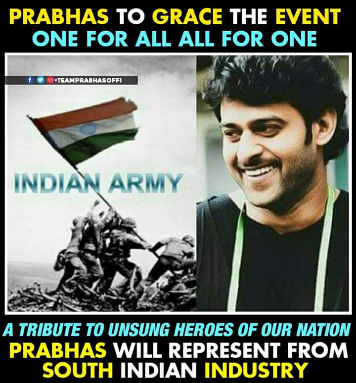 Prabhas To Honour Indian Soldiers