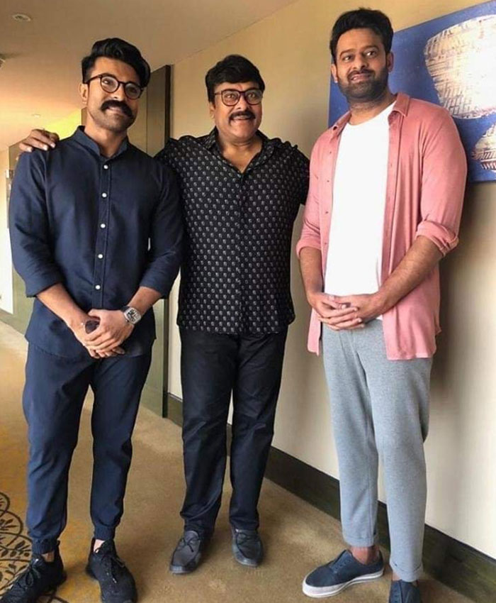 Prabhas Wishes to Chiranjeevi