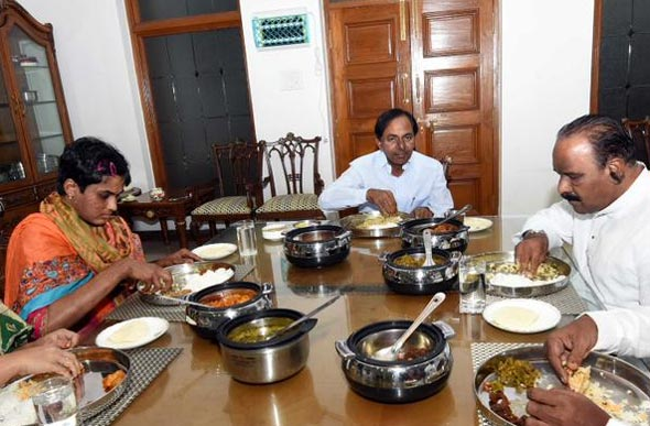 Prathyusha Staying at KCR Home