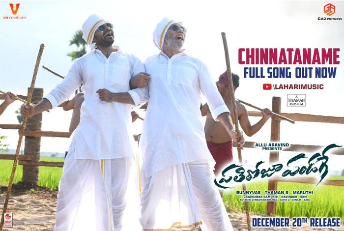 Prati Roju Pandaage Chinnataname Song Released