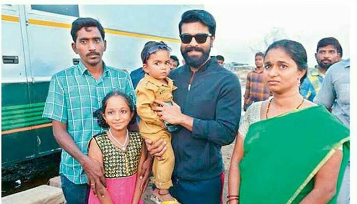 Ram Charan's Charity on 3-Year Old Kid