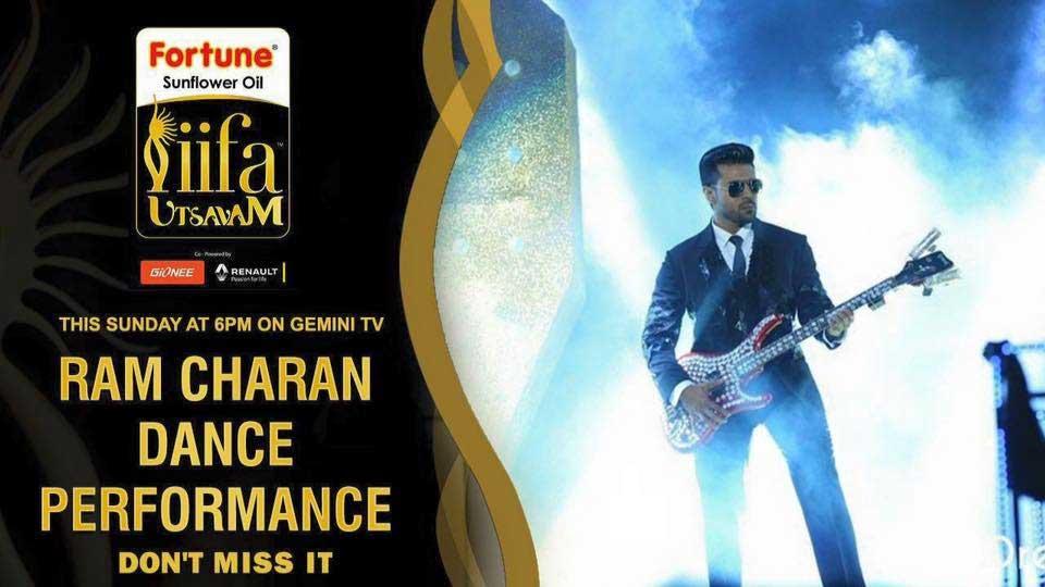 Ram Charan's Dancing Performance of IIFA in Gemni TV Today