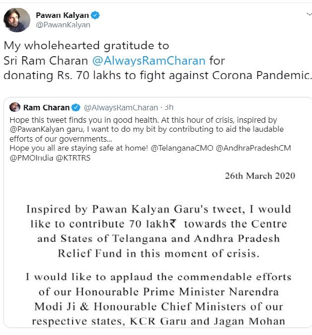 Ram Charan Donates 70 Lakhs For Coronavirus Relief