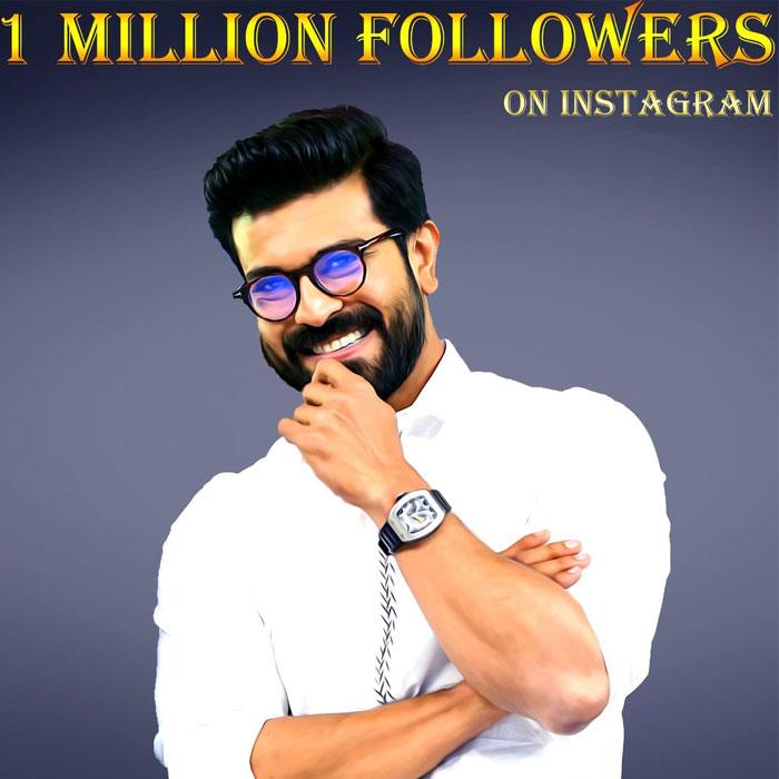 Ram Charan Gets One Million Followers on Instagram