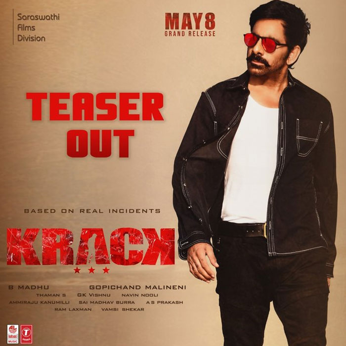 Ravi Teja's Krack Teaser Released