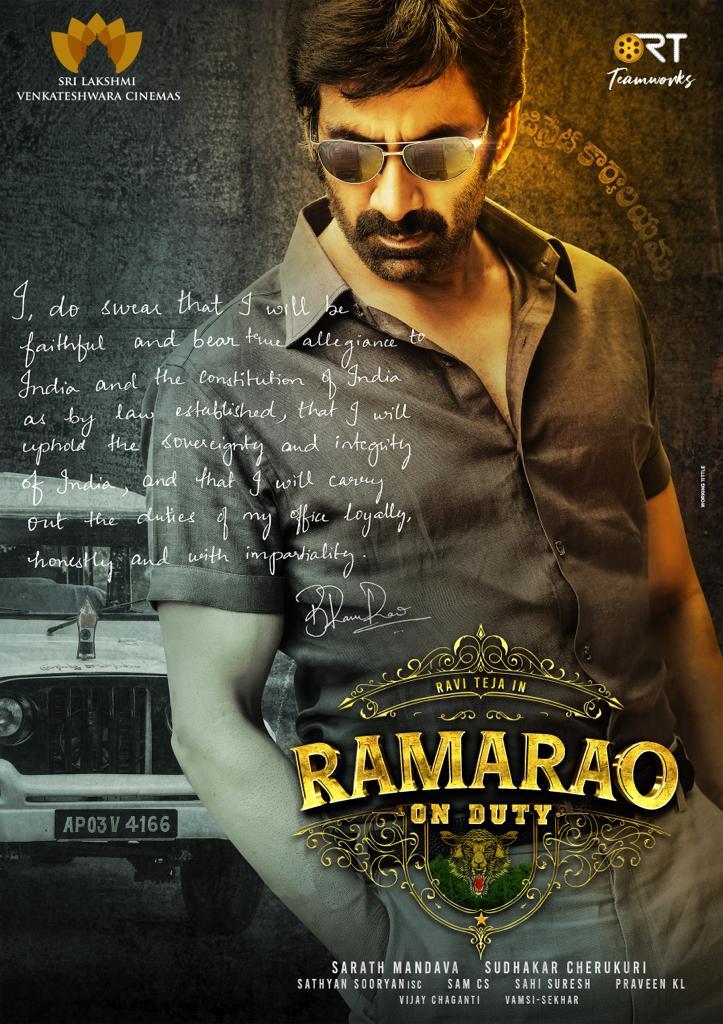 Ravi teja Ramarao on Duty