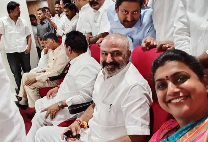 Roja Takes a Selfie with Balakrishna