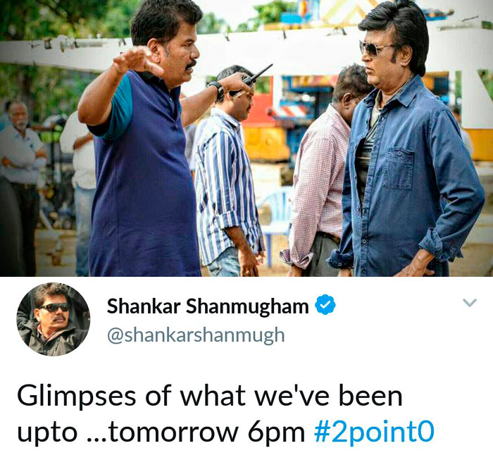 Shankar Tweet on 2.0 Movie
